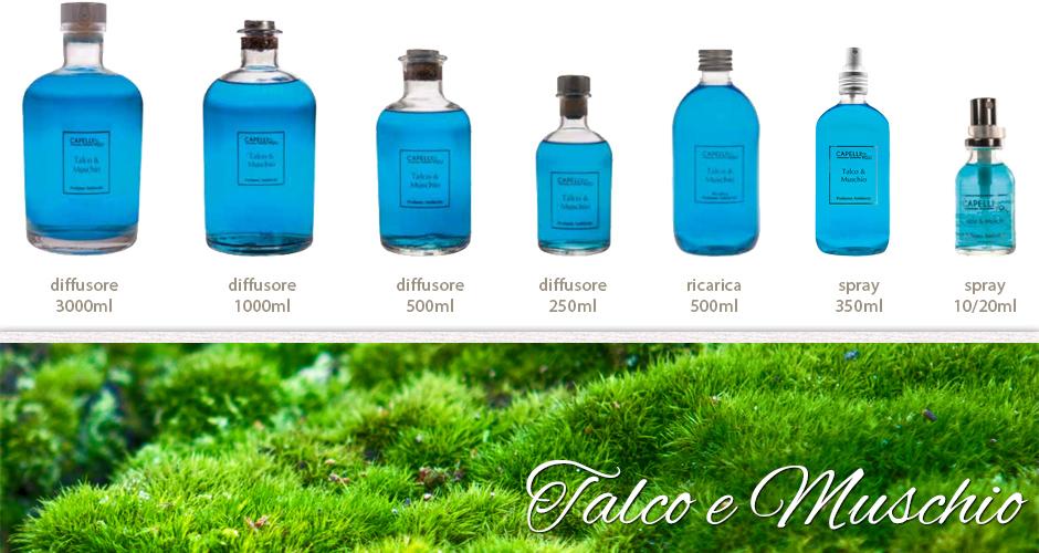 Fragranze profumatori d'ambiente - Talco e muschio